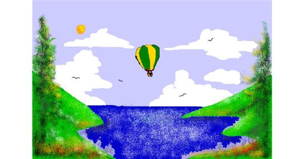 Hot air balloon drawing by Jimmah