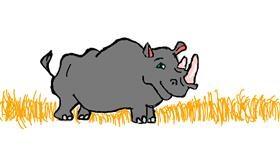 Rhino drawing by kari