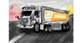 Drawing of Truck by Soaring Sunshine