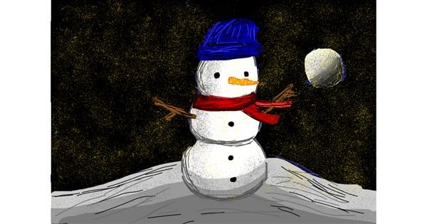 Snowman drawing by Bigoldmanwithglasses