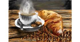 Croissant drawing by Soaring Sunshine