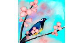 Bird drawing by Alex Berrhto