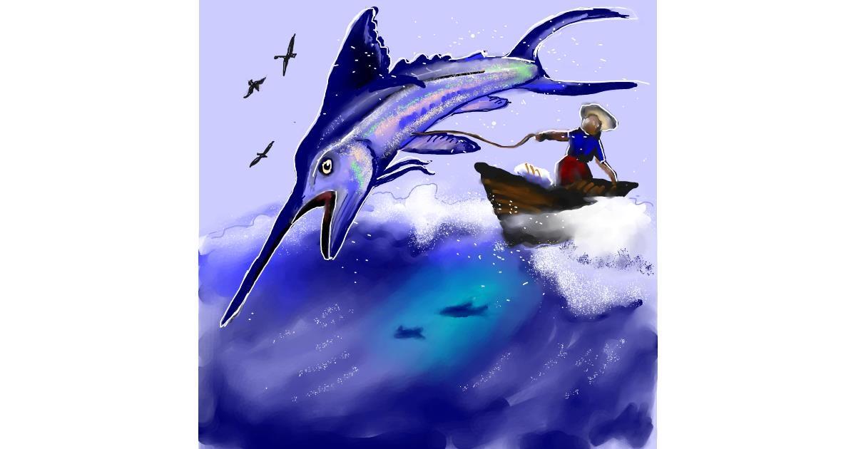 Swordfish drawing by Leah