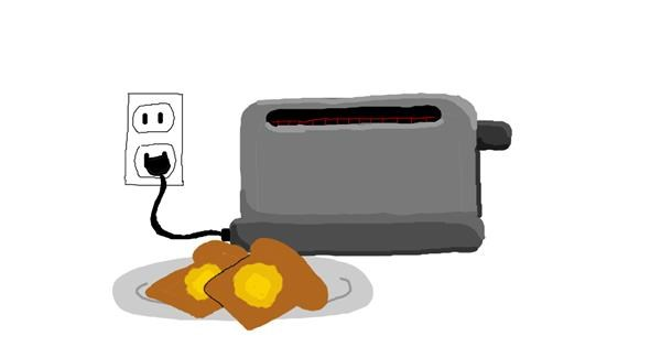 Toaster drawing by uwu