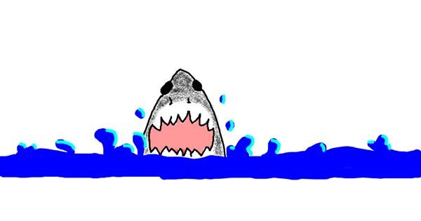 Shark drawing by uwu