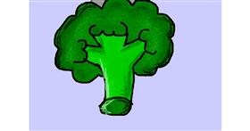 Broccoli drawing by P