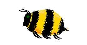 Bee drawing by uwu