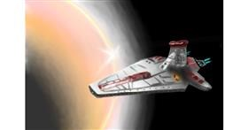 Drawing of Spaceship by Wizard