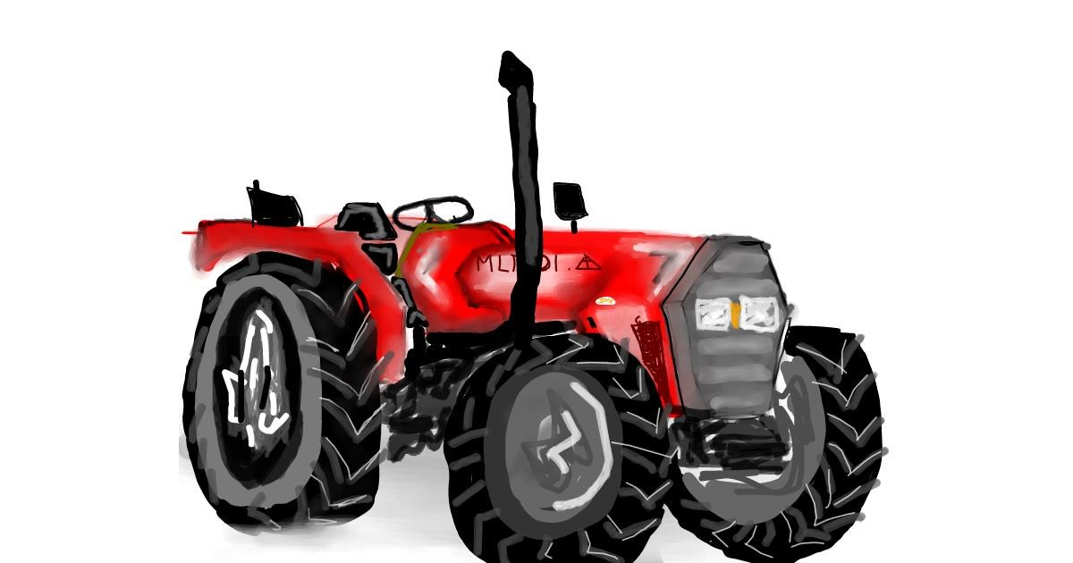 Tractor drawing by Bro 2.0😎
