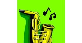 Drawing of Saxophone by Loves