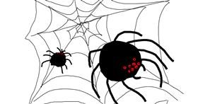 Spider drawing by That One Llama