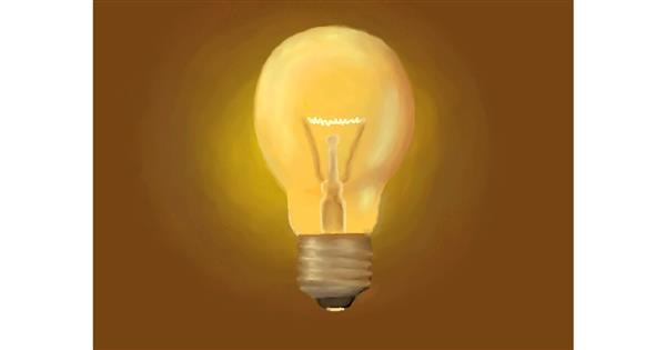 Light bulb drawing by Leadron