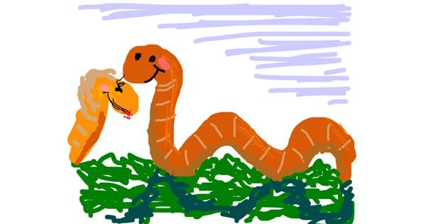 Worm drawing by Firsttry