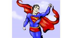 Superman drawing by Cec