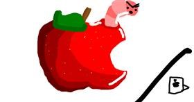 Apple drawing by Star