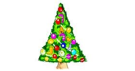 Christmas tree drawing by Lsk