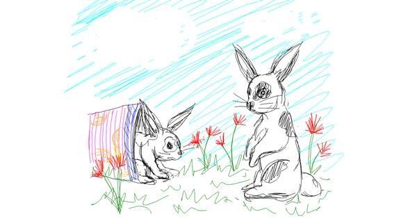 Rabbit drawing by Kiwi