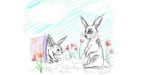 Rabbit drawing by Kiwi