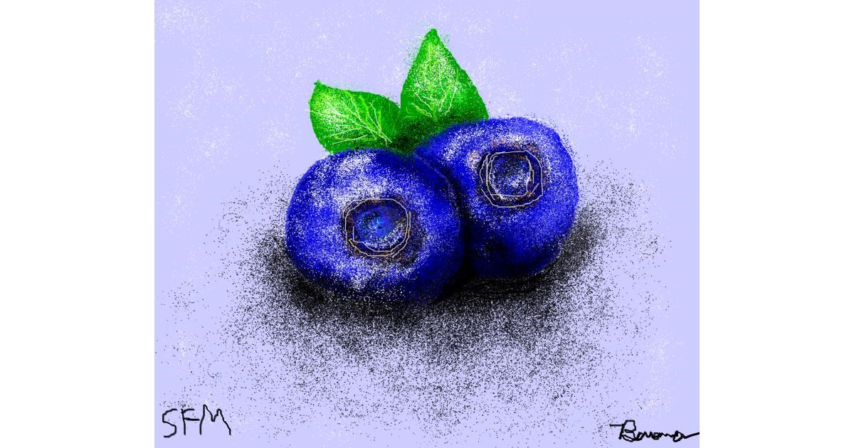 Blueberry drawing by Banana