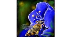 Bee drawing by Leah