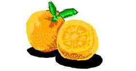 Drawing of Orange by Asuzena