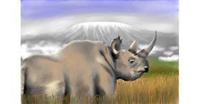 Rhino drawing by RadiouChka