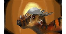 Drawing of Dinosaur by Magic 8