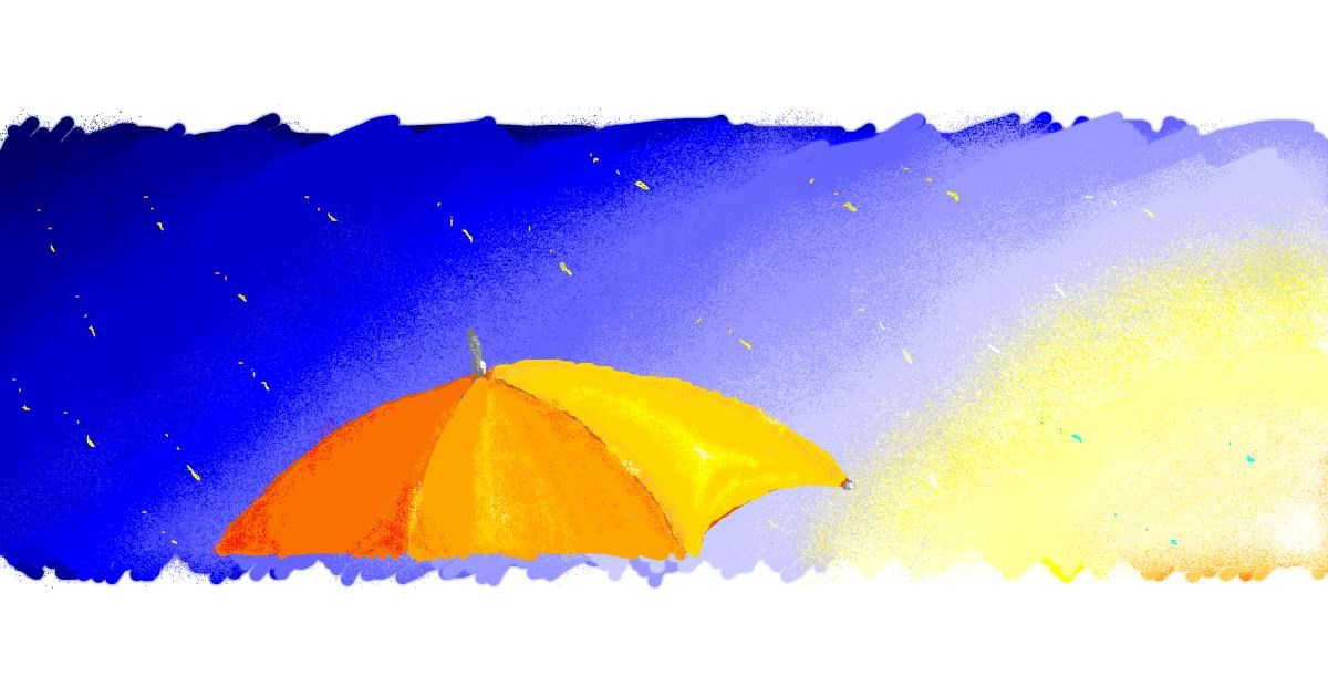 Drawing of Umbrella by 7y3e1l1l0o§