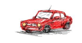 Car drawing by Gnome