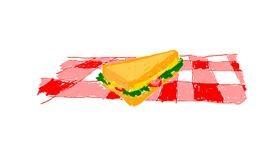 Sandwich drawing by 7y3e1l1l0o§