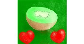 Kiwi fruit drawing by Loves