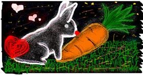 Carrot drawing by Angelica