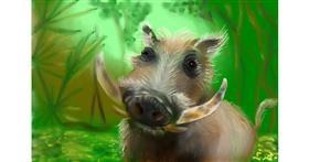 Drawing of Wild boar by Wizard