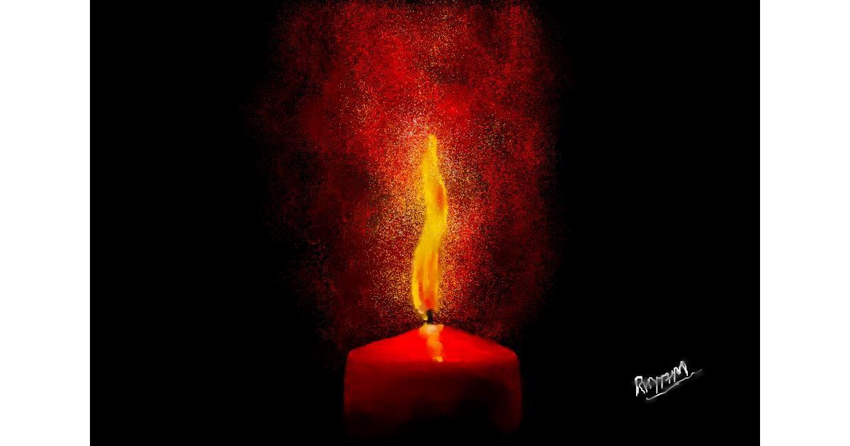 Candle drawing by 🌏rhythm💐