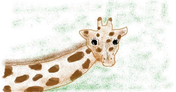 Giraffe drawing by Banana