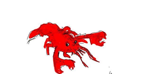 Lobster drawing by Panda