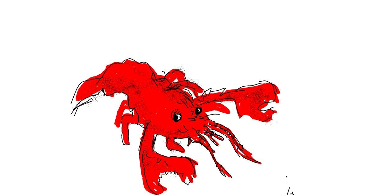 Drawing of Lobster by Panda