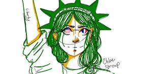 Statue of Liberty drawing by Yo