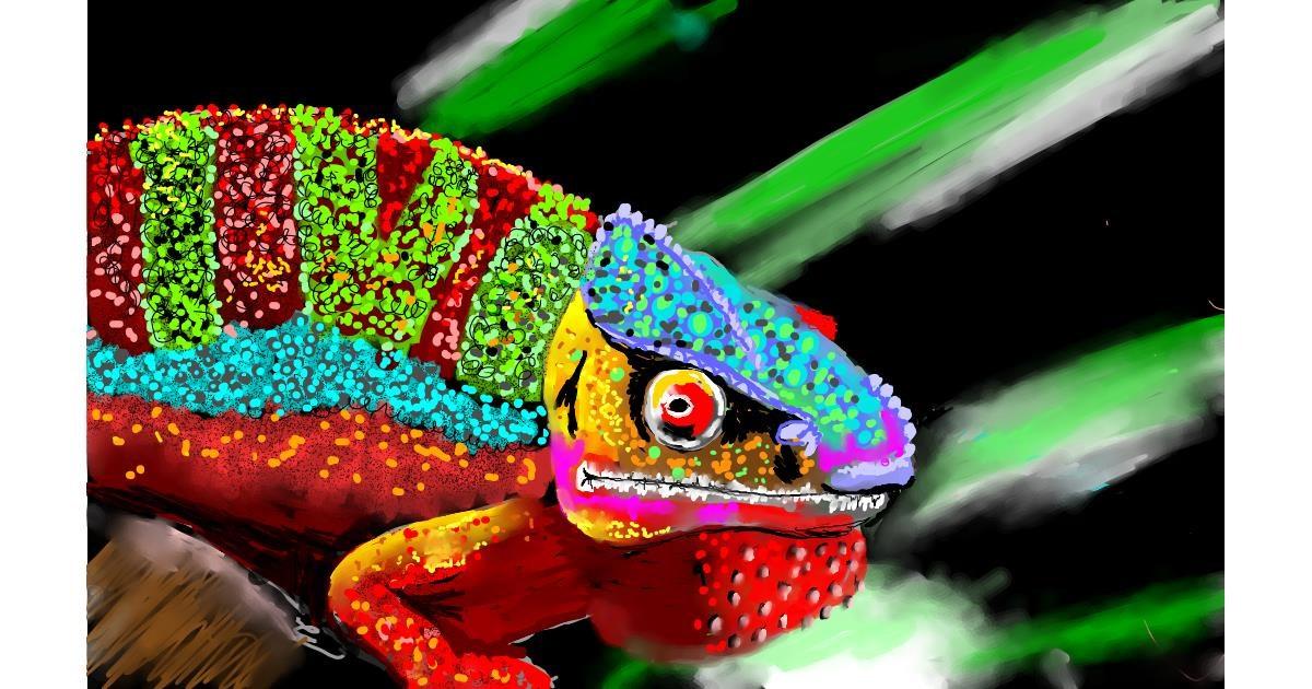 Chameleon drawing by SAM AKA MARGARET 🙄