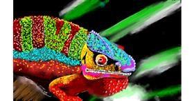 Drawing of Chameleon by SAM AKA MARGARET 🙄