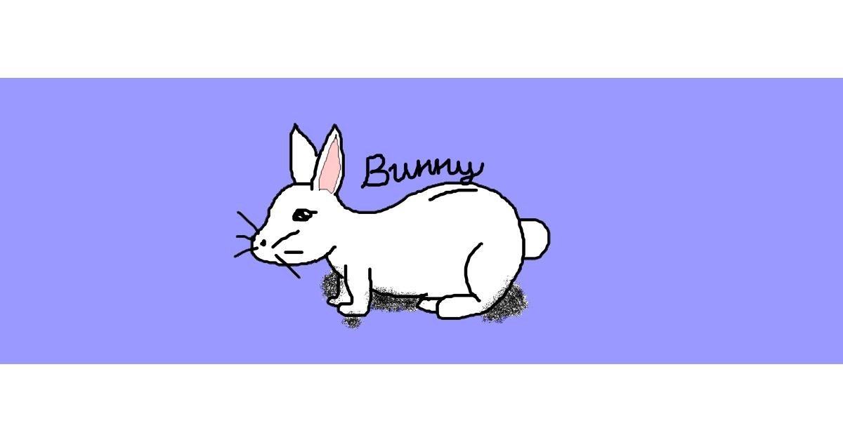Rabbit drawing by jingle bells🎁🔔