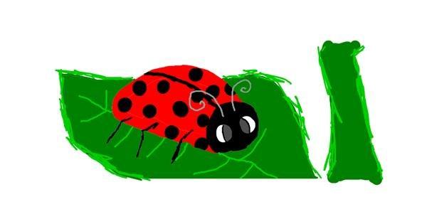 Ladybug drawing by Sister Pablo