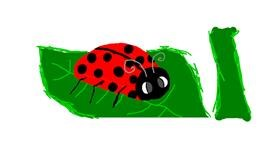 Ladybug drawing by Sister Pablo