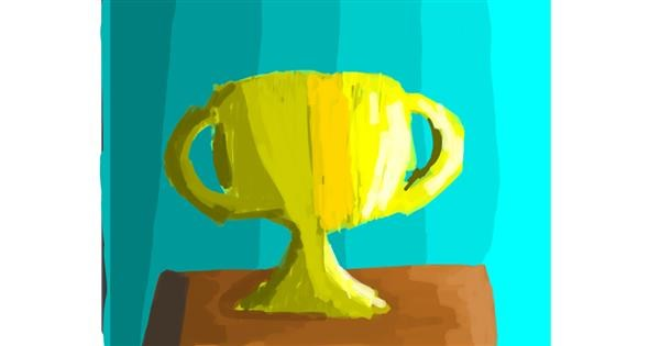 Trophy drawing by Data