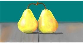 Drawing of Pear by Pinky