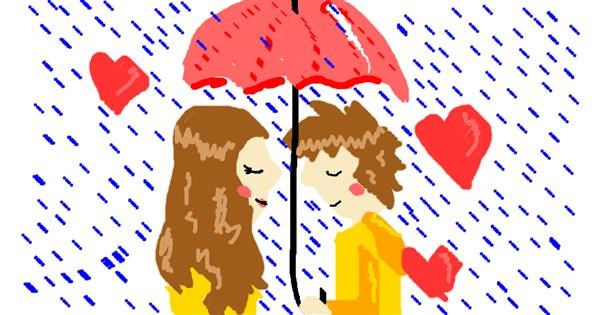 Umbrella drawing by Anna