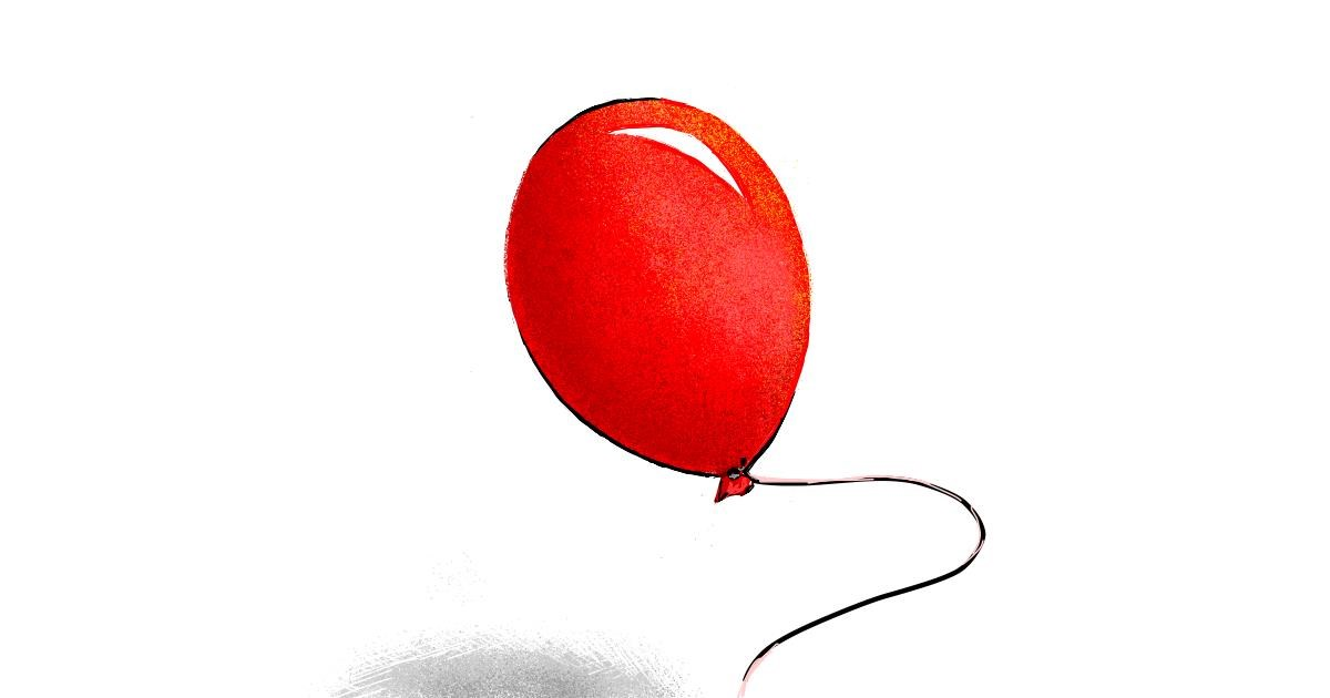 Drawing of Balloon by Murdoc