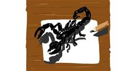 Scorpion drawing by Geo-Pebbles