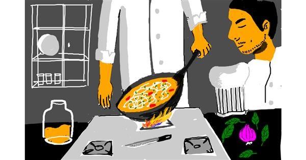 Chef drawing by Upasana
