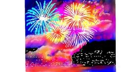 Fireworks drawing by GJP